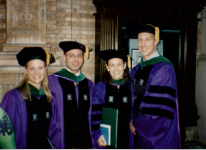 From left to right: Liz, Harris, Amy and James, 1998